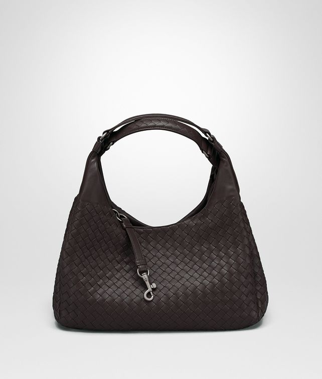 BOTTEGA VENETA MEDIUM CAMPANA BAG IN ESPRESSO INTRECCIATO NAPPA Shoulder Bag Woman fp