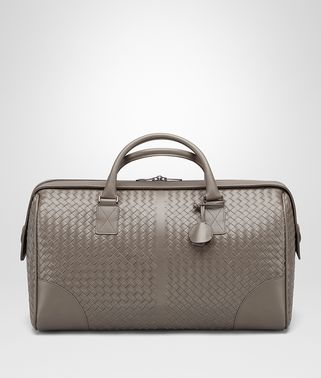 MEDIUM DUFFLE BAG IN STEEL INTRECCIATO VN