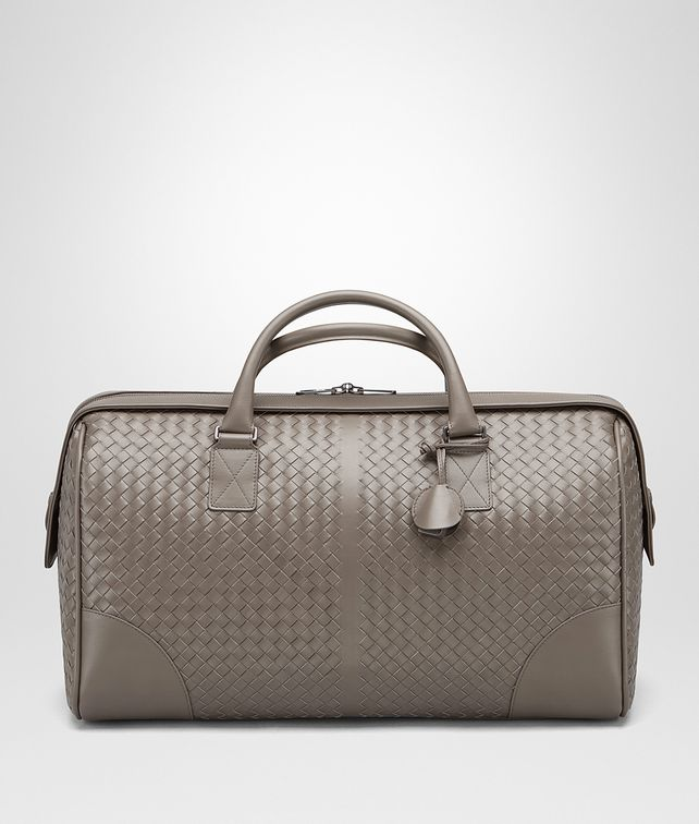 BOTTEGA VENETA MEDIUM DUFFLE BAG IN STEEL INTRECCIATO VN Luggage E fp