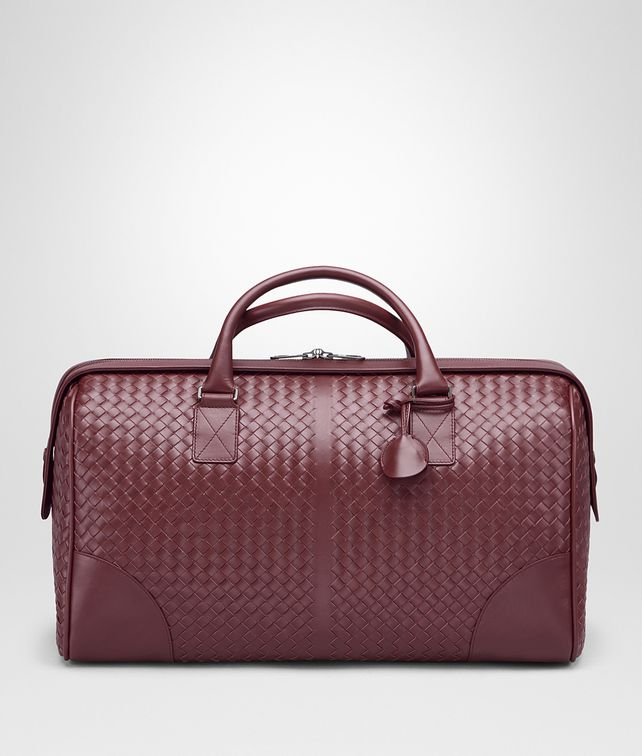 BOTTEGA VENETA MEDIUM DUFFLE BAG IN BAROLO INTRECCIATO VN Travel Bag E fp