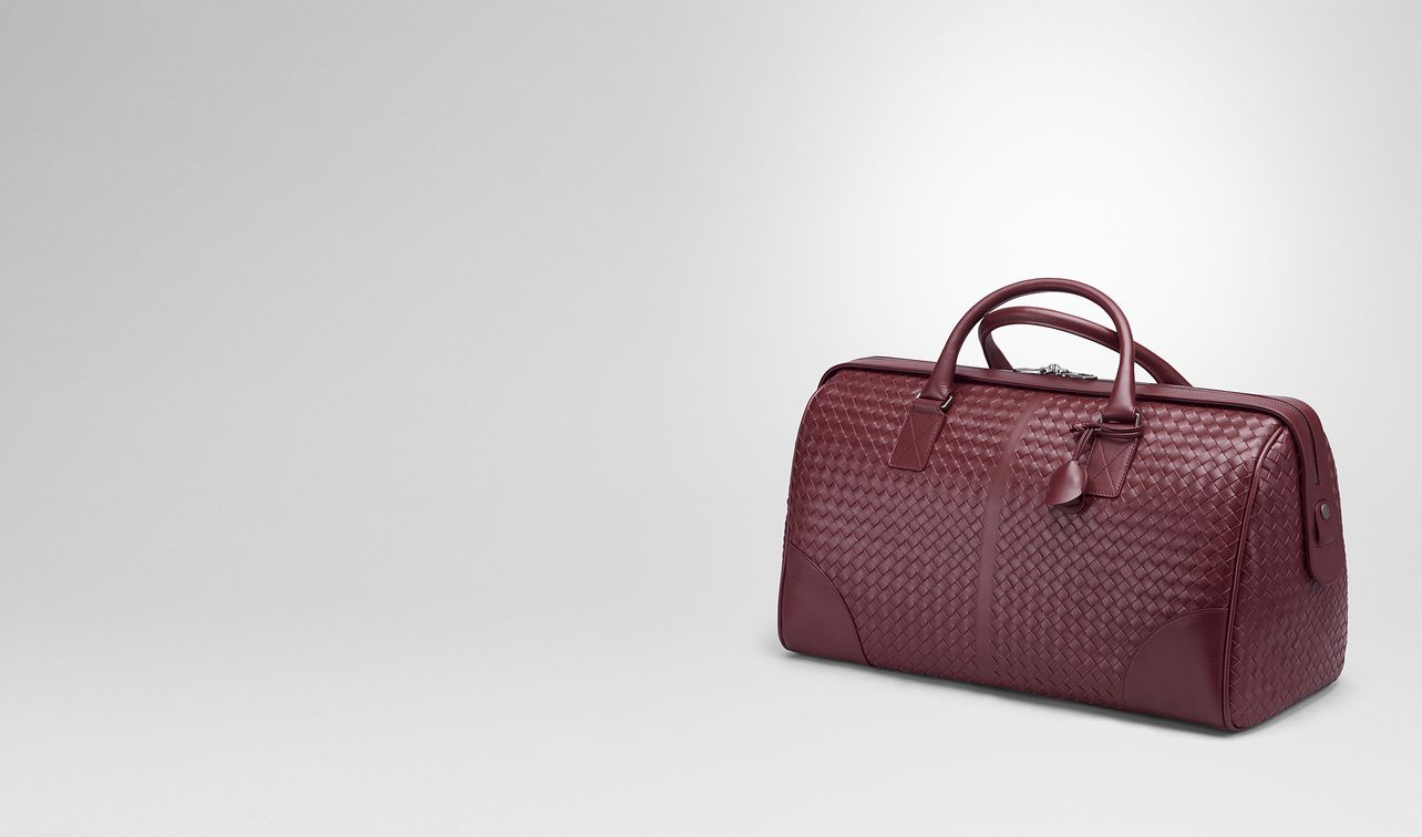 medium duffle bag in barolo intrecciato vn landing