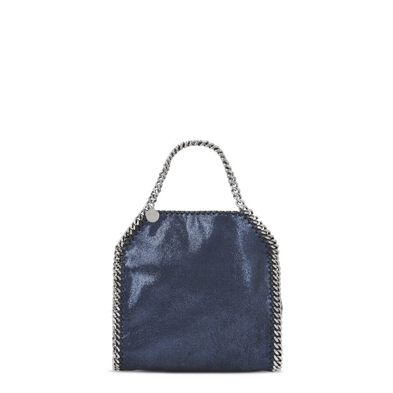 Ink Falabella Shiny Dotted Chamois Mini Tote