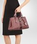 BOTTEGA VENETA SMALL ROMA BAG IN DUSTY ROSE EMBROIDERED NAPPA LEATHER, AYERS DETAILS Top Handle Bag D ap