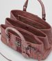 BOTTEGA VENETA SMALL ROMA BAG IN DUSTY ROSE EMBROIDERED NAPPA LEATHER, AYERS DETAILS Top Handle Bag D dp