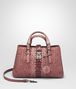 BOTTEGA VENETA SMALL ROMA BAG IN DUSTY ROSE EMBROIDERED NAPPA LEATHER, AYERS DETAILS Top Handle Bag D fp
