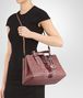 BOTTEGA VENETA SMALL ROMA BAG IN DUSTY ROSE EMBROIDERED NAPPA LEATHER, AYERS DETAILS Top Handle Bag D lp