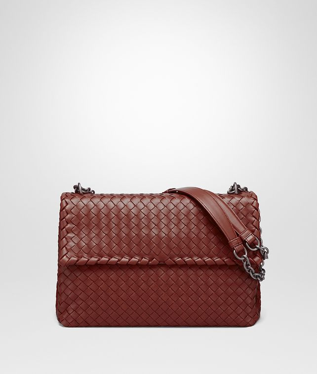 BOTTEGA VENETA OLIMPIA BAG IN PETRA INTRECCIATO NAPPA Shoulder Bag Woman fp