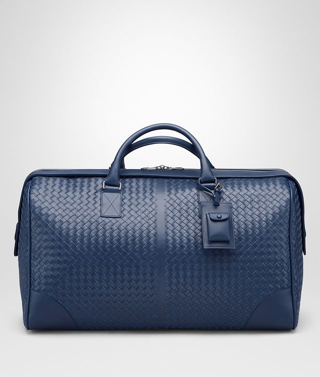 BOTTEGA VENETA LARGE DUFFEL BAG IN PACIFIC INTRECCIATO VN Duffel Bag E fp