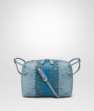 MESSENGER-TASCHE AUS BESTICKTEM NAPPA IN AIR FORCE BLUE