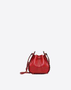 VALENTINO GARAVANI BUCKET BAG D Small Rockstud Bucket Bag f