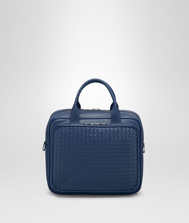 BOTTEGA VENETA TRAVEL BAG IN PACIFIC INTRECCIATO VN Duffel Bag E fp