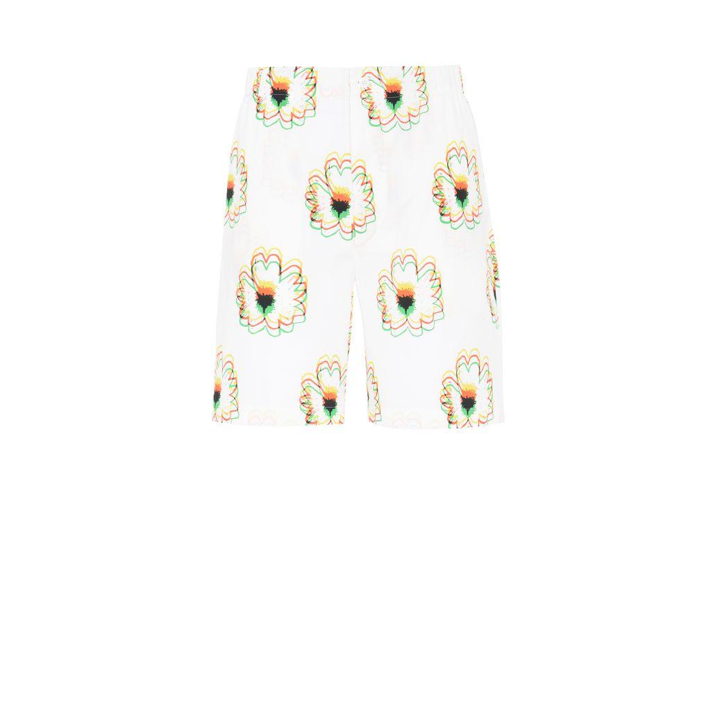 Psychedelic Flower Print Shorts - STELLA McCARTNEY MEN