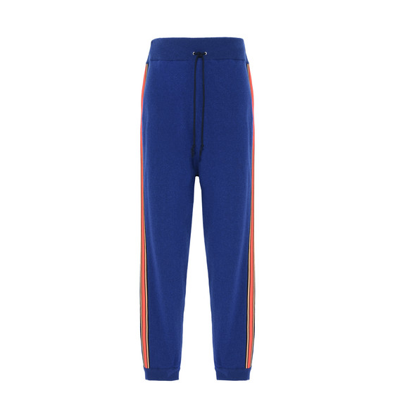 Indigo Ribbon Trim Knit Trousers
