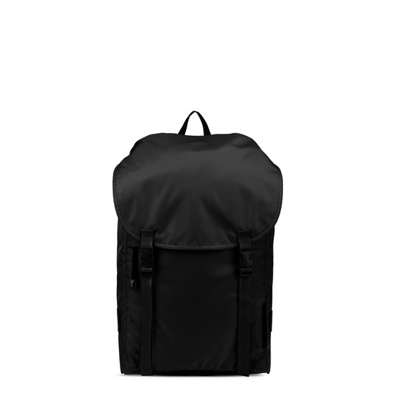 Black Eco Nylon Backpack