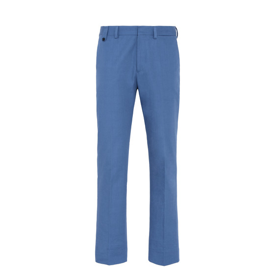 Azure Cotton Gabardine Trousers