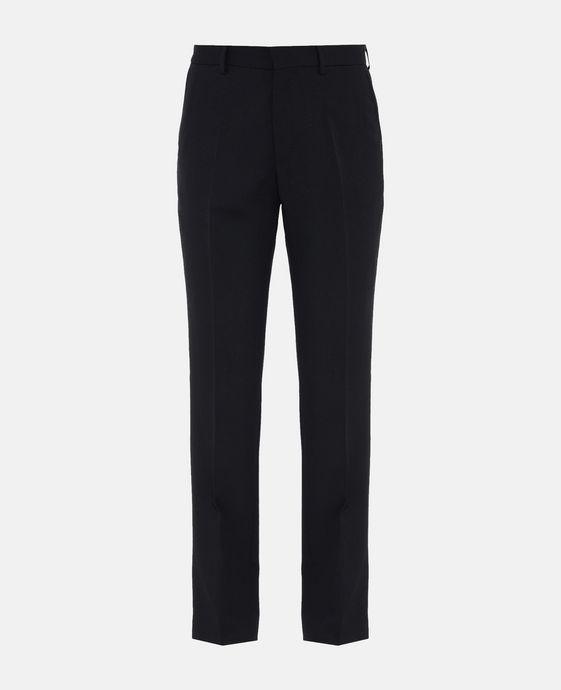 Black Tuxedo Wool Trousers