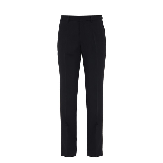 Pantalon de smoking en laine noir