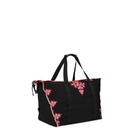 Black Eco Nylon Weekender Bag