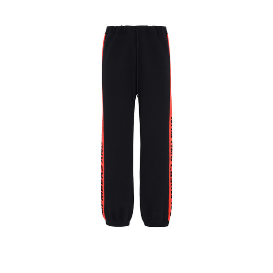 Black Members Knit Trousers