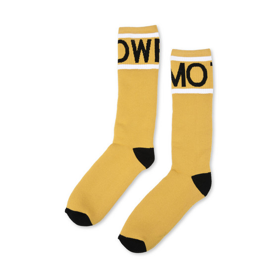 Yellow Tomorrow Print Socks