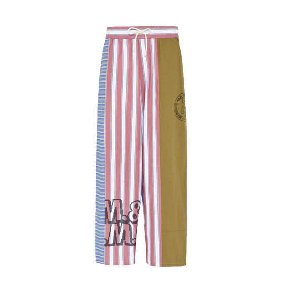 Members Print Pyjama Striped Trousers