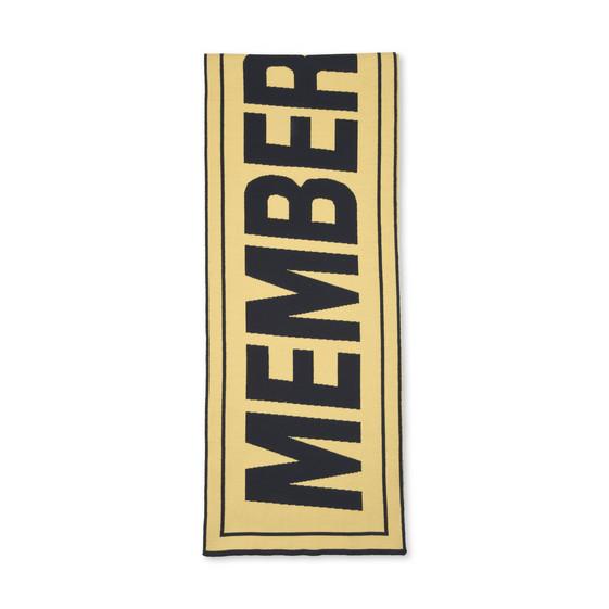 Yellow Members Print Scarf