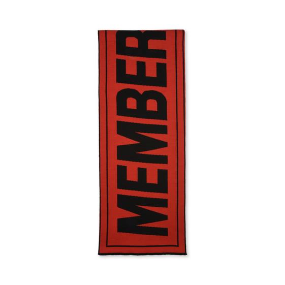 Red Members Print Scarf