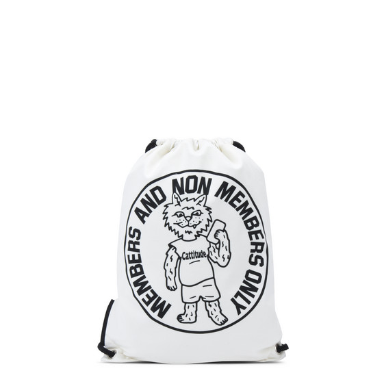 Printed Bad Cat Backpack