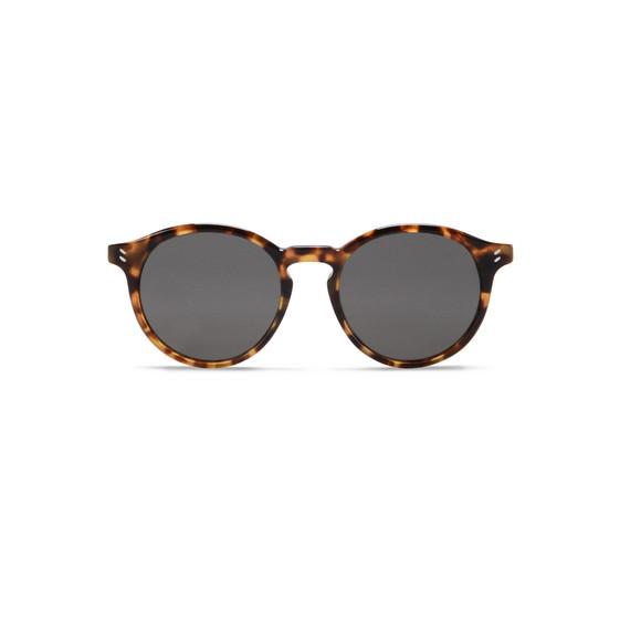 Beige Havana Round Frame Sunglasses