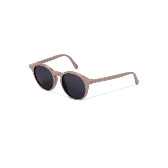 Light Pink Round Frame Sunglasses