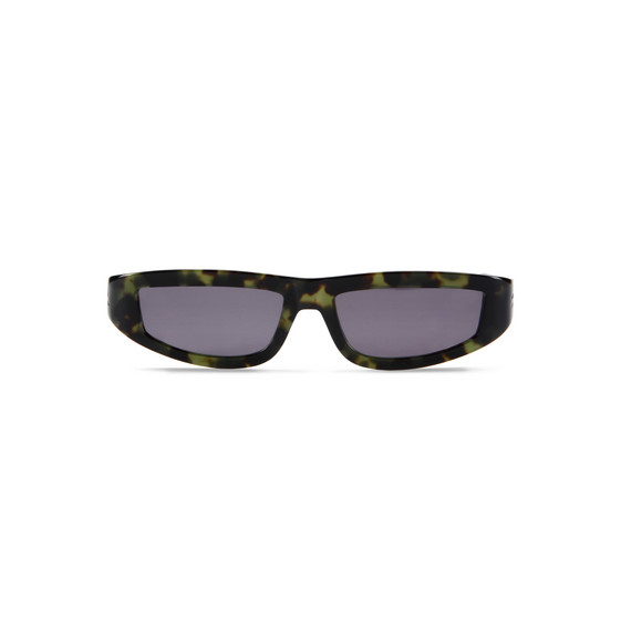 Green Havana D-frame Sunglasses