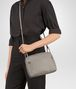 BOTTEGA VENETA MESSENGER BAG IN FUME' INTRECCIATO NAPPA Crossbody bag Woman ap