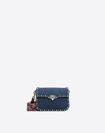 VALENTINO Guitar Rockstud Rolling Cross Body Bag  45330774WR