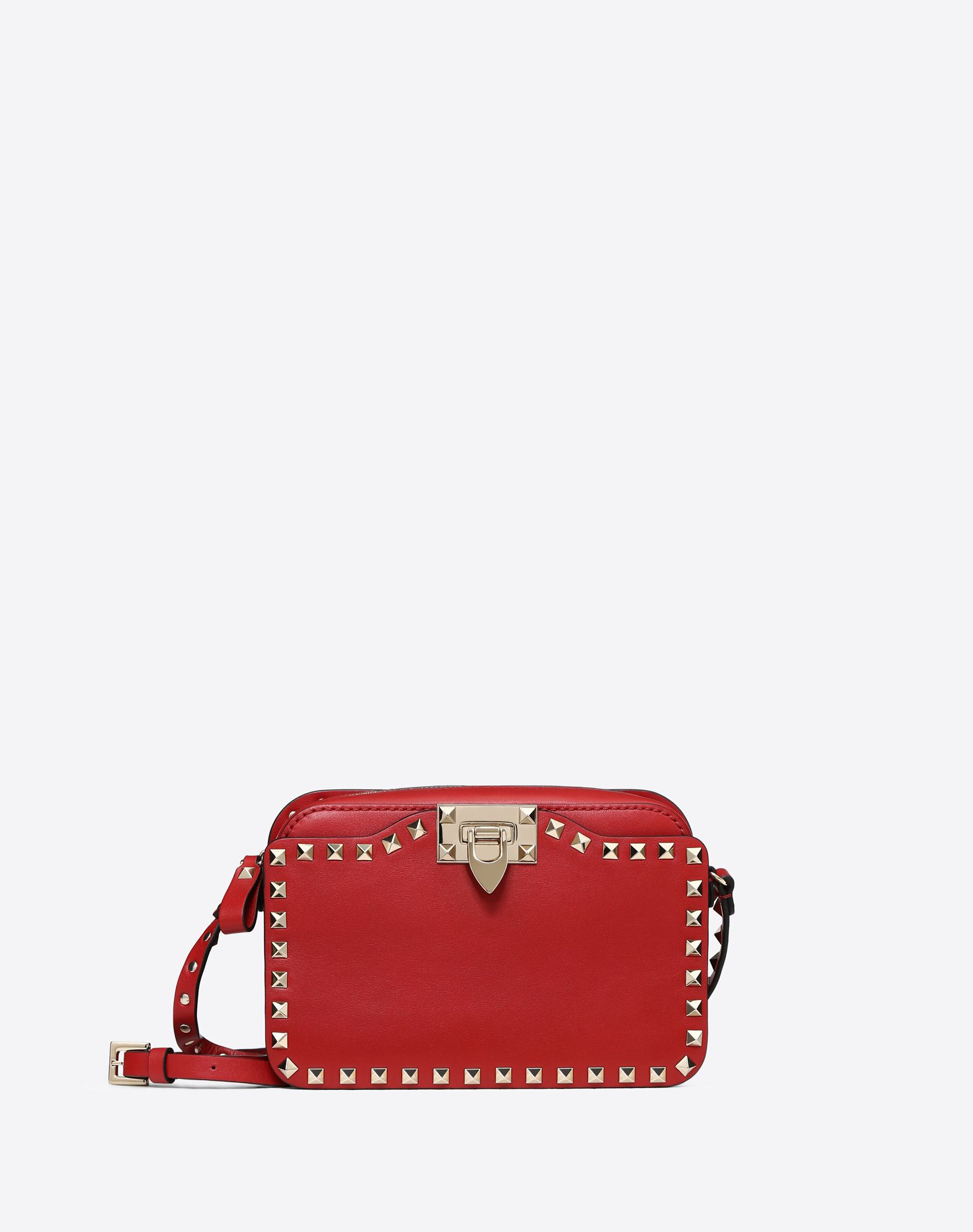 VALENTINO 铆钉 附品牌标志 单色  拉链 外部多口袋 内部口袋 可调式背带  45330810ks