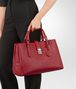BOTTEGA VENETA ROMA BAG IN CHINA RED INTRECCIATO CALF Top Handle Bag D ap