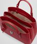 BOTTEGA VENETA ROMA BAG IN CHINA RED INTRECCIATO CALF Top Handle Bag D dp
