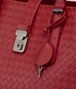 BOTTEGA VENETA ROMA BAG IN CHINA RED INTRECCIATO CALF Top Handle Bag Woman ep