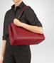 BOTTEGA VENETA CHINA RED INTRECCIATO CALF MEDIUM ROMA BAG Top Handle Bag D lp