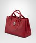 BOTTEGA VENETA CHINA RED INTRECCIATO CALF MEDIUM ROMA BAG Top Handle Bag D rp