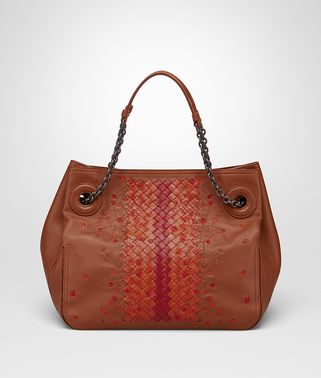 TOTE BAG IN CALVADOS EMBROIDERED NAPPA