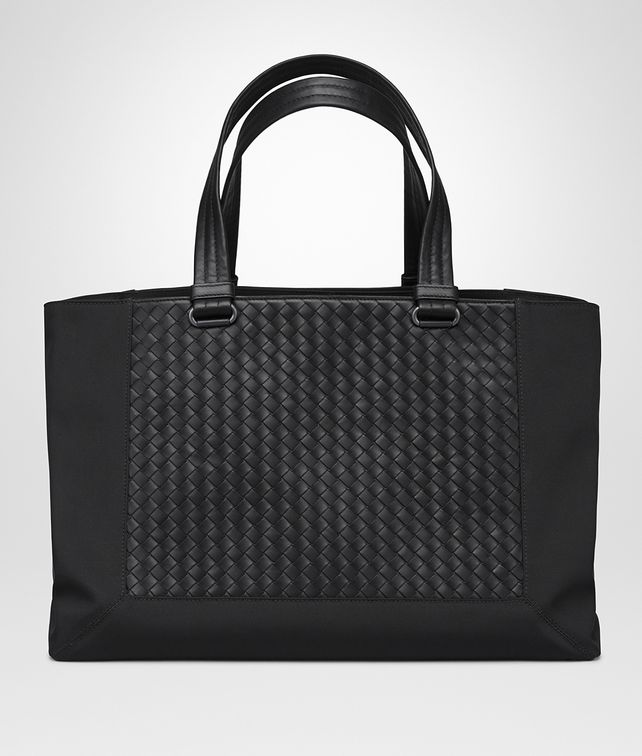BOTTEGA VENETA NERO CANVAS TOTE Tote Bag Man fp