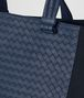 BOTTEGA VENETA TOURMALINE HI-TECH CANVAS/PACIFIC INTRECCIATO CALF TOTE Tote Bag Man ep