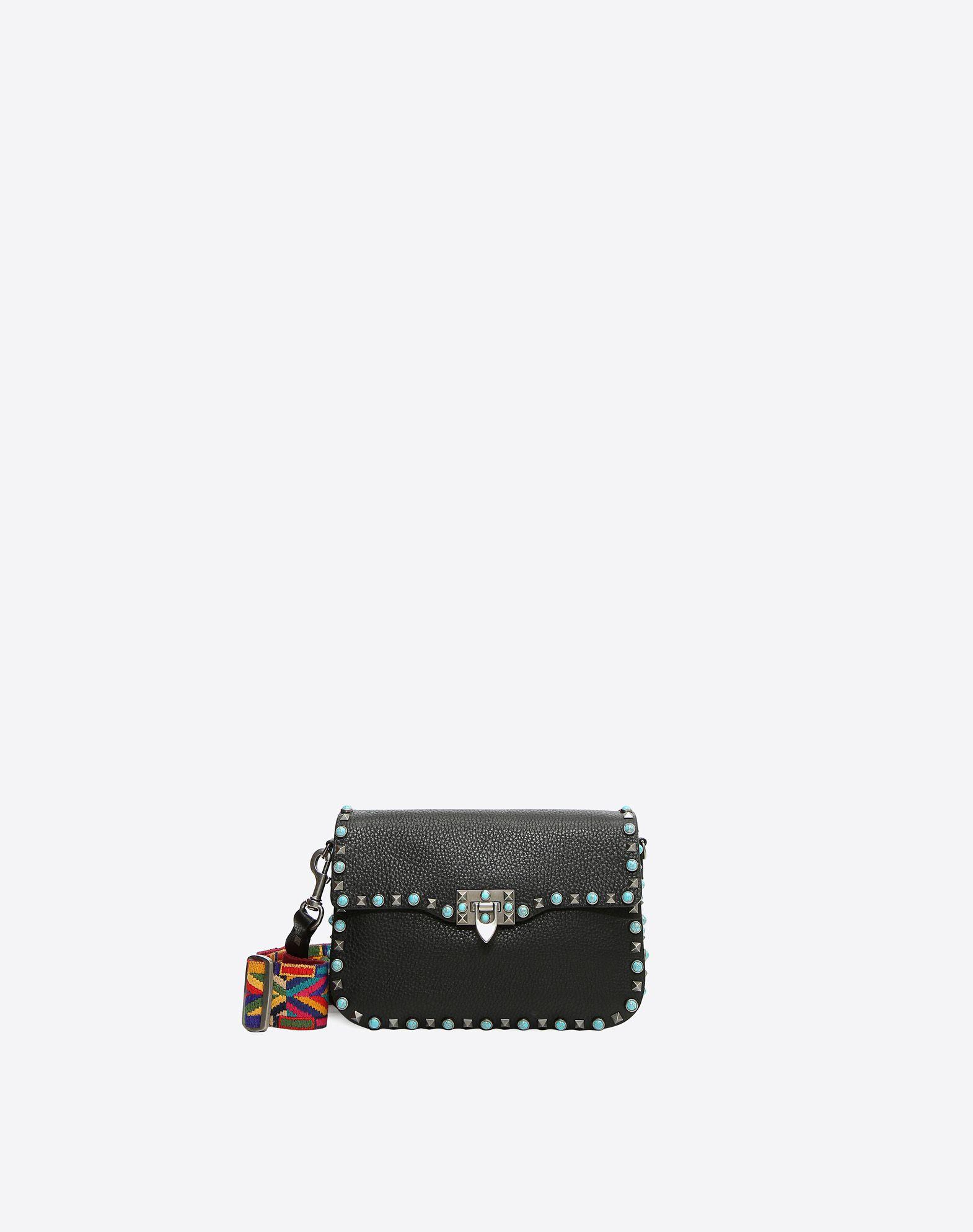 VALENTINO Contrasting applications Framed closure Removable shoulder strap Internal zip pocket  45330992em