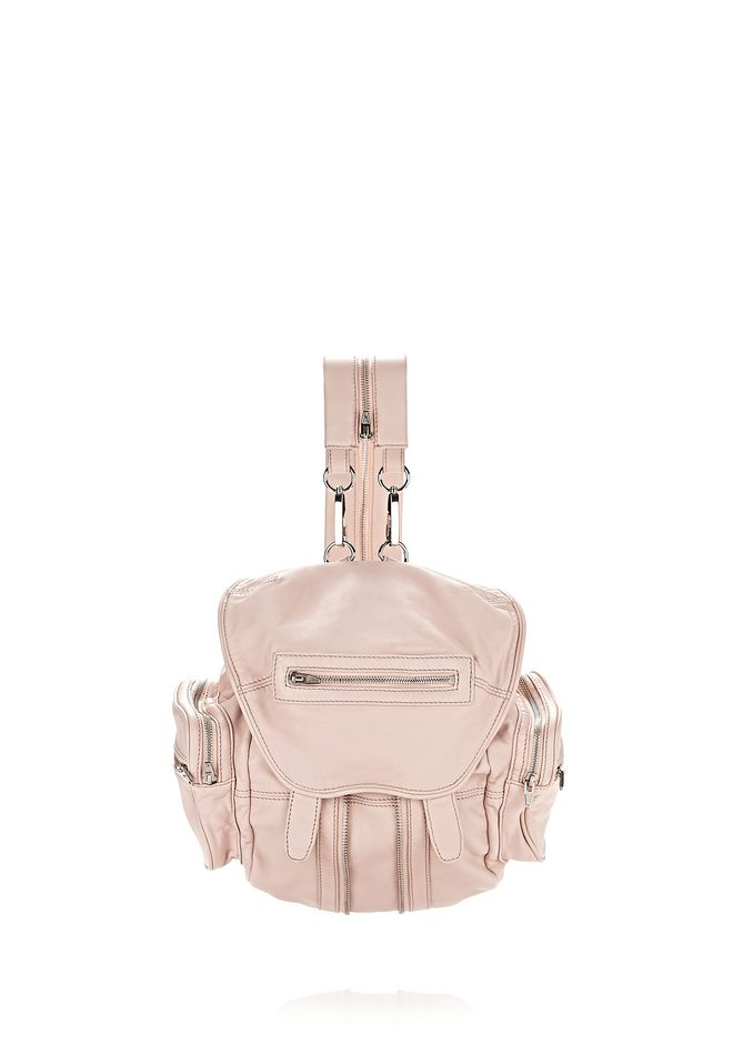 ALEXANDER WANG BACKPACKS Women MINI MARTI IN WASHED BLUSH WITH RHODIUM