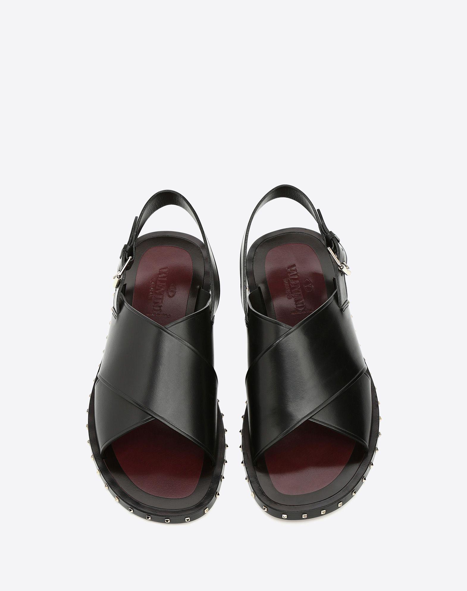 VALENTINO GARAVANI UOMO Soul Rockstud 凉鞋 凉鞋 U e
