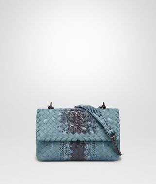 BABY OLIMPIA BAG IN AIR FORCE BLUE EMBROIDERED NAPPA, AYERS DETAILS