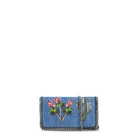 STELLA McCARTNEY Cross Body D Falabella Denim Embroidered Cross Body Bag f