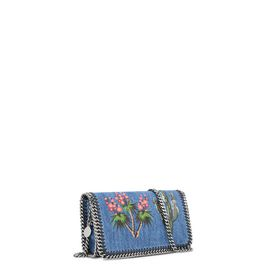 Falabella Denim Embroidered Cross Body Bag