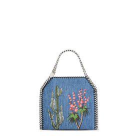 STELLA McCARTNEY Falabella Mini Bags D Falabella Denim Embroidered Mini Bag  f