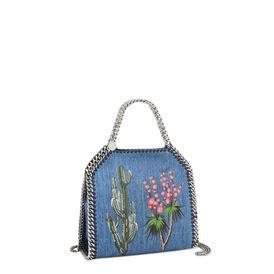 Falabella Denim Embroidered  Mini Bag